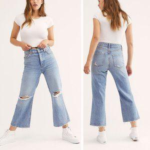 Free People Ranger Denim Wide Leg High Waist Jeans